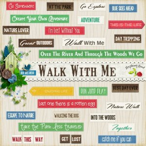 Walk With Me Wordart