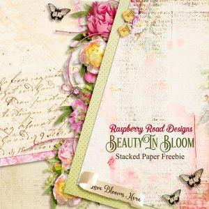 Beauty In Bloom Stacked Paper Freebie